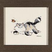 Картины и панно ручной работы. Ярмарка Мастеров - ручная работа Просто кот.... Handmade.