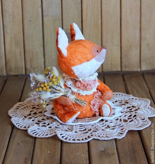 Мишки Тедди ручной работы. Ярмарка Мастеров - ручная работа. Купить Катарина - лисичка Тедди в стиле Бохо. Handmade. Рыжий