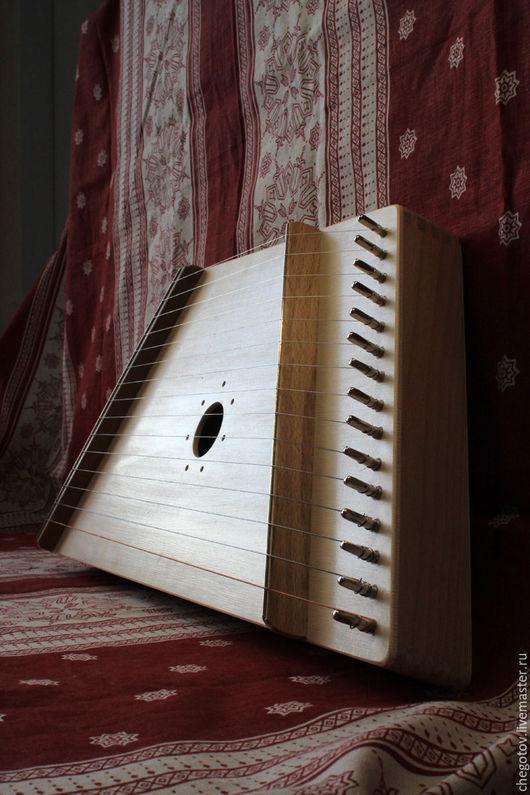 Струнные инструменты ручной работы. Ярмарка Мастеров - ручная работа. Купить Гусли «Баюн» 15 струн. Handmade. Бежевый, инструмент