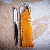 Канцелярские товары handmade. Livemaster - original item Pencil case for pens made of genuine leather