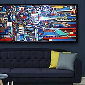 """Картины и панно handmade. Livemaster - original item Great decor panno of wood """"Underwater city"""". Handmade."""