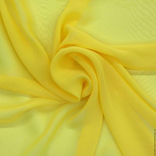Шифон простой - цвет желтый