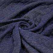 Материалы для творчества ручной работы. Ярмарка Мастеров - ручная работа Трикотаж  стеганый джинсово-синий двухсторонний POLO RALF LOREN. Handmade.
