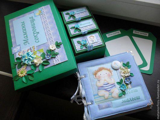 """Подарки для новорожденных, ручной работы. Ярмарка Мастеров - ручная работа. Купить """"Мамины сокровища"""". Handmade. Комбинированный, подарок маме и малышу"""