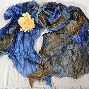 Аксессуары handmade. Livemaster - original item Gossamer crinkled silk batik Mystery. Handmade.