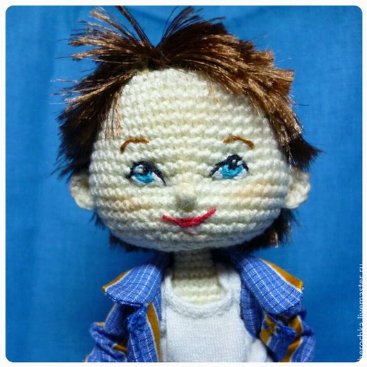 Человечки ручной работы. Ярмарка Мастеров - ручная работа. Купить Кукла-мальчик. Handmade. Бежевый, авторская кукла, игрушка крючком