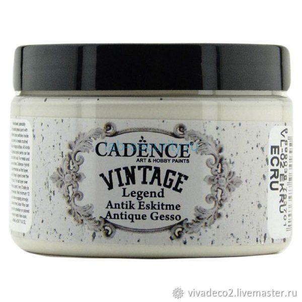 Античный грунт-краска Vıntage Legend Cadence, 150 ml, Пасты, Москва,  Фото №1