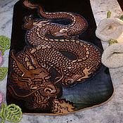 Картины и панно handmade. Livemaster - original item Painting leather