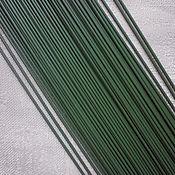 Материалы для творчества ручной работы. Ярмарка Мастеров - ручная работа Стебли, 3 мм, длина 40 см, проволока, пластик, основа, цвет зеленый.. Handmade.