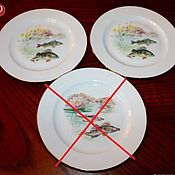 Винтаж handmade. Livemaster - original item Vintage table plates