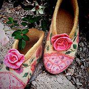 Обувь ручной работы. Ярмарка Мастеров - ручная работа Башмачки,,Розочки``. Handmade.