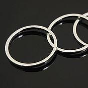 Коннекторы ручной работы. Ярмарка Мастеров - ручная работа Коннектор кольцо 16 мм, родиевое покрытие, фурнитура Южная Корея. Handmade.