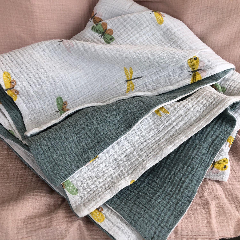Одеяло муслиновое «Стрекозы», Одеяло для детей, Москва,  Фото №1