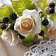 """Диадемы, обручи ручной работы. Ярмарка Мастеров - ручная работа. Купить Ободок """"розы и ежевика"""". Handmade. Черный, ободок с цветами"""