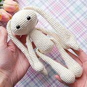 Куклы и игрушки handmade. Livemaster - original item Bunny-friend shiny knitted. Handmade.