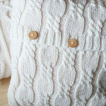 Textiles handmade. Livemaster - original item Knitted decorative pillow Little. Handmade.