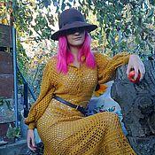 Одежда ручной работы. Ярмарка Мастеров - ручная работа Платье  в винтажном стиле цвета меда.. Handmade.