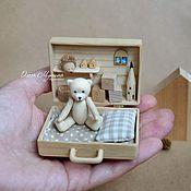 handmade. Livemaster - original item Wooden Teddy bear and chemotopic. Handmade.