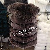 Vests handmade. Livemaster - original item Fur vest from Fox. Handmade.