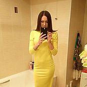 Одежда ручной работы. Ярмарка Мастеров - ручная работа Желтое платье с бантом на спине. Handmade.