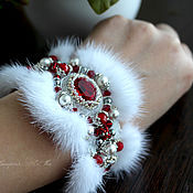 Украшения handmade. Livemaster - original item Bracelet made of fur royalty, the bracelet of mink, vintage style. Handmade.