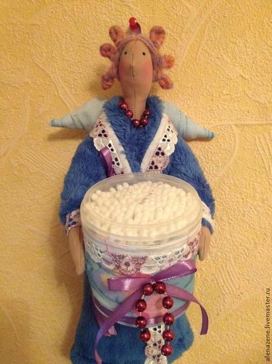Коллекционные куклы ручной работы. Ярмарка Мастеров - ручная работа. Купить Вивьен.Хранительница ватных дисков и палочек. Handmade. Синий