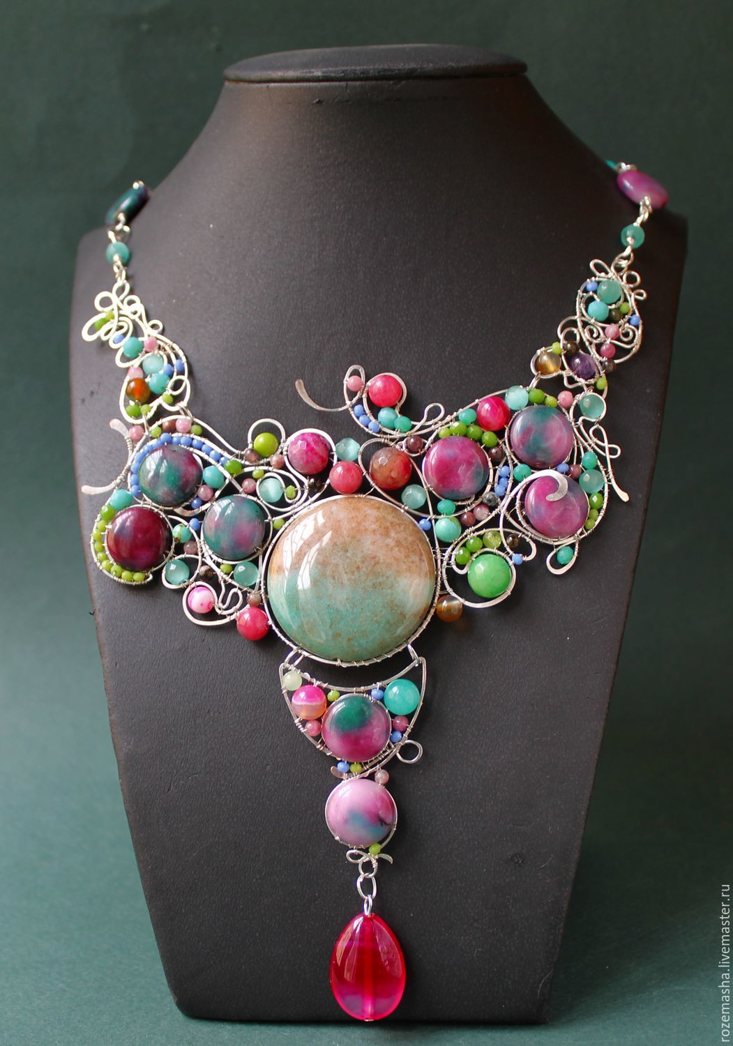 Necklace 'Apples and Berries', Necklace, St. Petersburg,  Фото №1