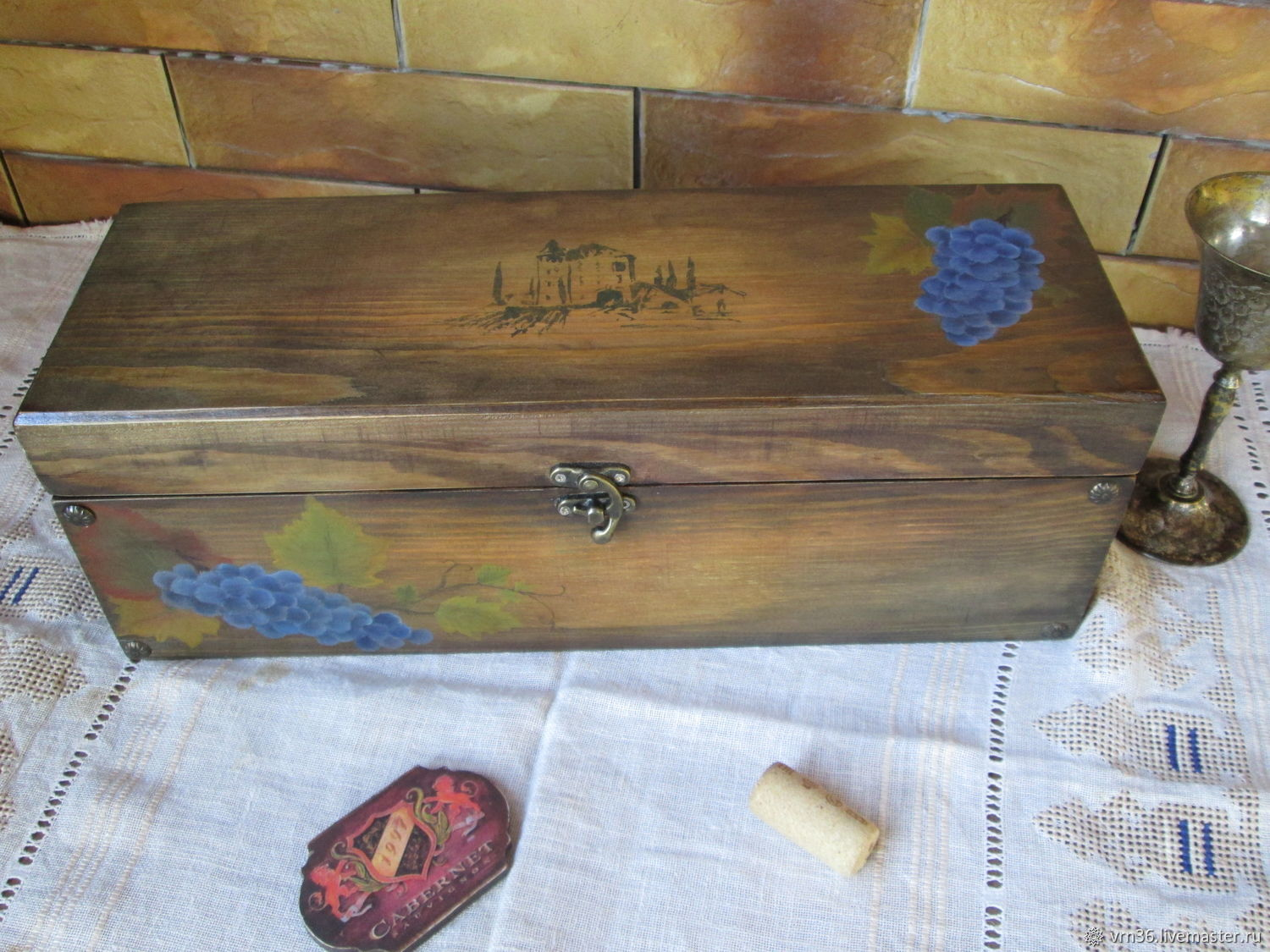Wine box'Chateau' pine(Painted), Packing box, Voronezh,  Фото №1