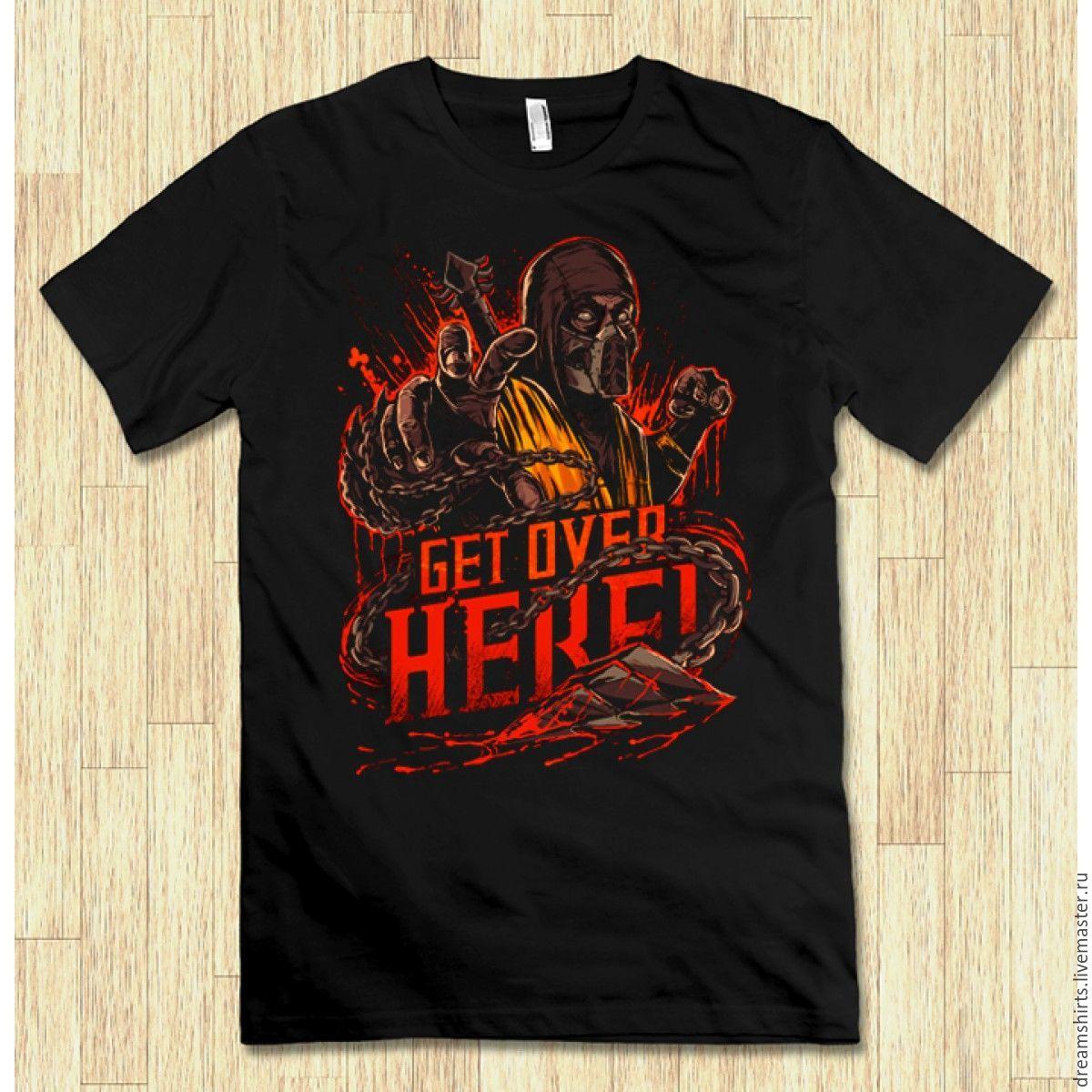 "Футболка с принтом ""Mortal Kombat - Scorpion"", T-shirts, Moscow,  Фото №1"