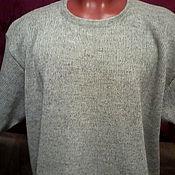 Мужская одежда handmade. Livemaster - original item 100% linen Cardigan in a Minimalist style with short sleeve.. Handmade.