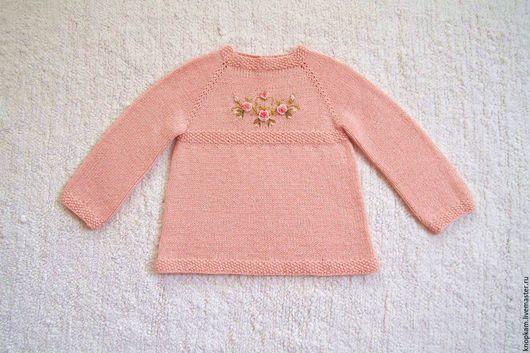 """Одежда для девочек, ручной работы. Ярмарка Мастеров - ручная работа. Купить Платье """"Розовый сад"""". Handmade. Кремовый, платье вязаное"""