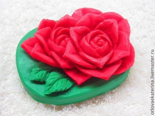 Материалы для косметики ручной работы. Ярмарка Мастеров - ручная работа. Купить Силиконовая форма карвинг розы. Handmade. Бледно-розовый
