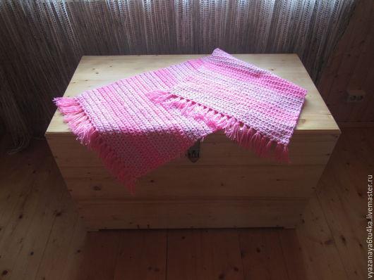 """Текстиль, ковры ручной работы. Ярмарка Мастеров - ручная работа. Купить Вязанный коврик """" Для Барби"""". Handmade. Розовый"""