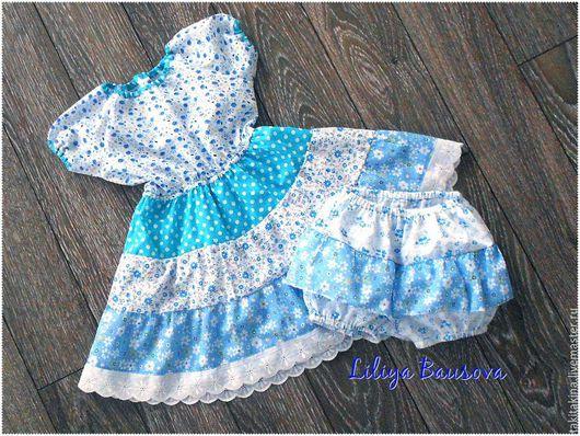 """Одежда для девочек, ручной работы. Ярмарка Мастеров - ручная работа. Купить Платье для девочки """"Незабудка"""". Handmade. Цветочный, платье для девочки"""