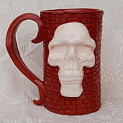 Субкультуры handmade. Livemaster - original item Mug ceramic Skull. Handmade.