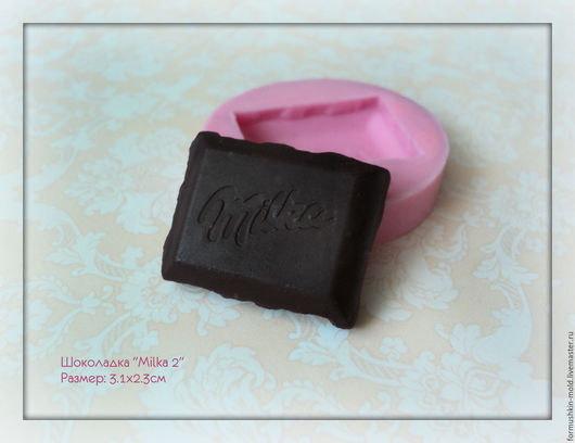 """Для украшений ручной работы. Ярмарка Мастеров - ручная работа. Купить Шоколадка """"Milka 2"""". Handmade. Полимерная глина, молд"""