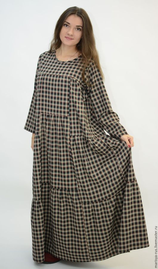 """Одежда ручной работы. Ярмарка Мастеров - ручная работа. Купить Шерстяное """"Составное"""" платье. Handmade. Темно-серый, шерстяное платье"""