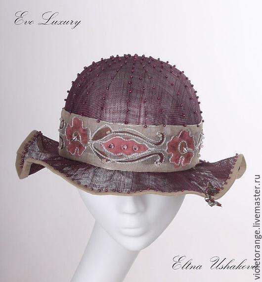 Эксклюзивная женская шляпка из синамей. Автор и исполнитель шляпный дизайнер Елена Ушакова. Все шляпы от Елены Ушаковой выходят в свет под брендом Evo Luxury.