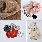 Материалы для творчества handmade. Livemaster - original item Sewing kit Teddy bear + tutorial + bear pattern. Handmade.