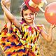 """Карнавальные костюмы ручной работы. Комплект """"Акробатка"""". Анастасия Курбатова (anastakurbatova). Интернет-магазин Ярмарка Мастеров. В клеточку, вискоза"""