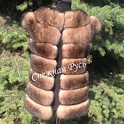 Одежда handmade. Livemaster - original item Fur vest from Fox. Handmade.
