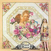 "Fabric handmade. Livemaster - original item Платок шелковый Gizia ""Винтаж"" итальянские ткани. Handmade."
