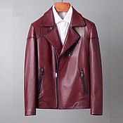 Одежда handmade. Livemaster - original item Leather jacket, genuine leather, burgundy color!. Handmade.
