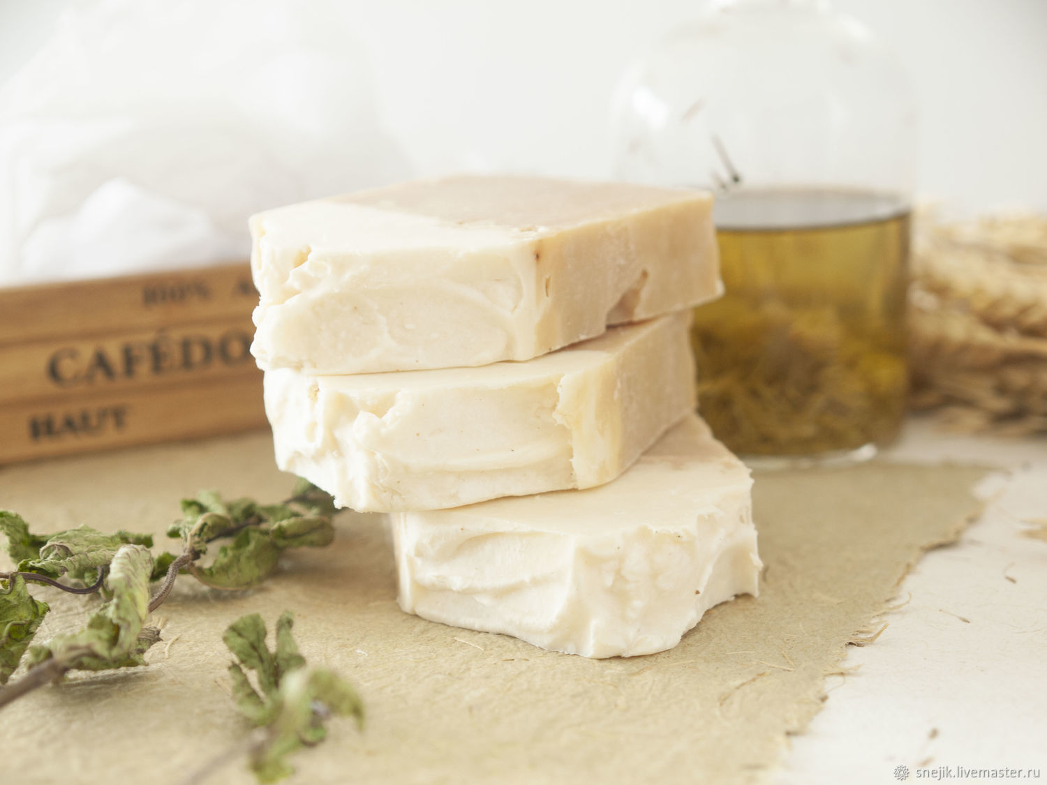 SAGE and CEDAR soap on beer, Soap, Moscow,  Фото №1