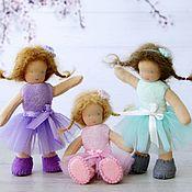 Вальдорфские куклы и звери ручной работы. Ярмарка Мастеров - ручная работа Вальдорфская куколка на каркасе для кукольного домика. Handmade.