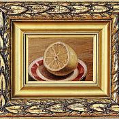 Картины ручной работы. Ярмарка Мастеров - ручная работа Картины: Натюрморт лимон картина маслом на холсте. Handmade.