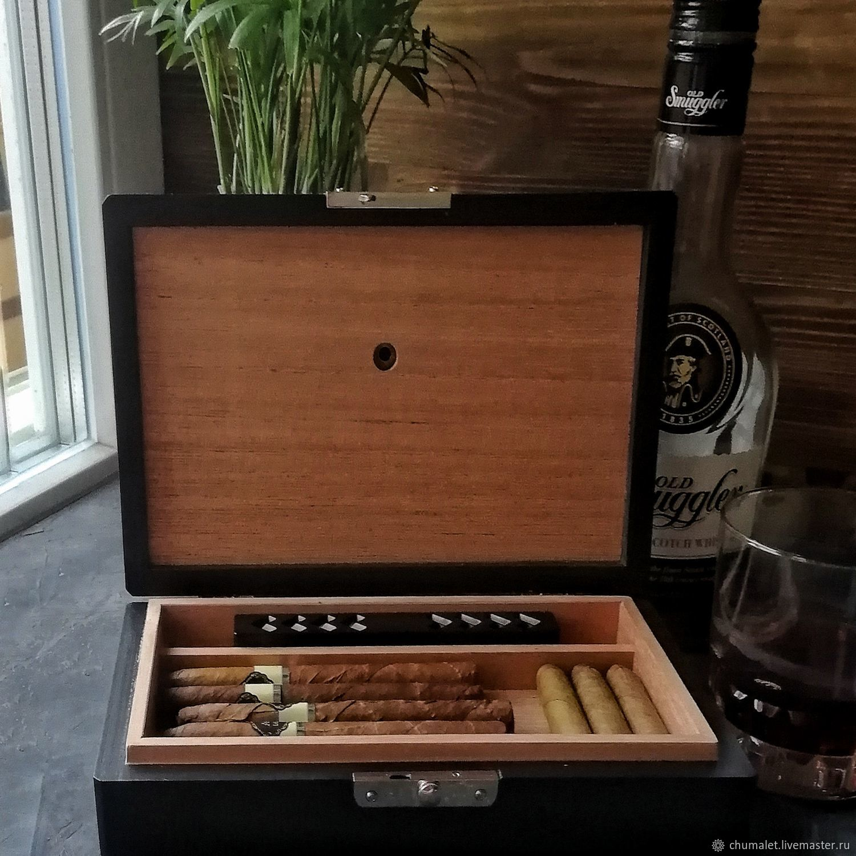 Хьюмидор / короб для сигар, 22,5х14,5х5 см ( Ш х Г х В ), Пепельницы, Москва,  Фото №1