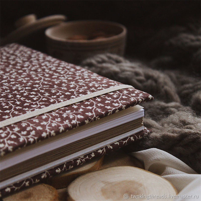 Notepad with fabric cover / A5 / Sketchbook / Diary, Sketchbooks, St. Petersburg,  Фото №1