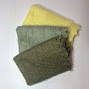 Аксессуары handmade. Livemaster - original item Down scarf lemon, green, pistachio, khaki. Handmade.