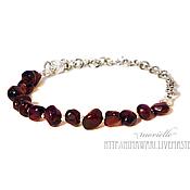 Украшения handmade. Livemaster - original item Garnet bracelet. Handmade.